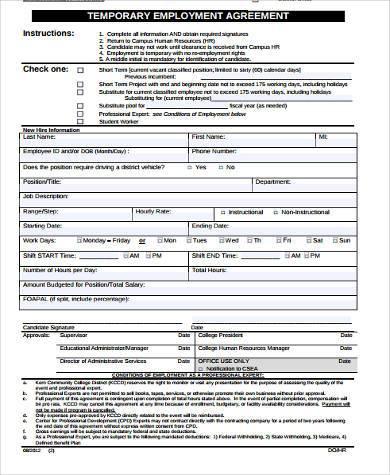 Employment Agreement In Pdf Will Employment Agreement Template - employment agreement in pdf