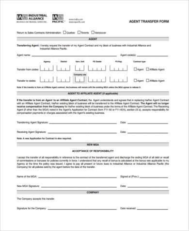 Transfer Agent Agreement Gallery - Agreement Letter Format - agent contract template
