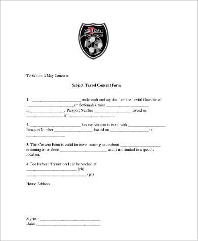passport consent forms cvessayoneprofessional - travel consent form sample