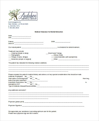 dental clearance form for heart surgery - Vocaalensembleconfianzanl - medical clearance forms