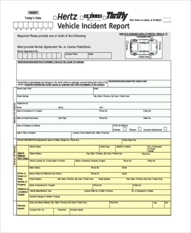 Incident Report Sample - 9+ Free Documents in Word, PDF - free printable incident reports