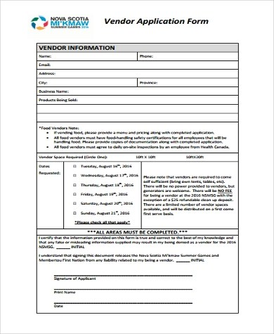 Vendor Information Vendor Application Form Petpalooza General
