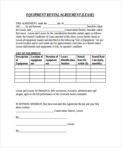 Rental Agreement Letters - 8+ Free Documents in Word, PDF - agreement letter
