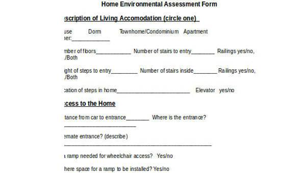 7+ Environmental Assessment Form Samples - Free Sample, Example