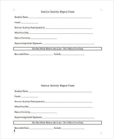 service form in word cvresummer - service form in word