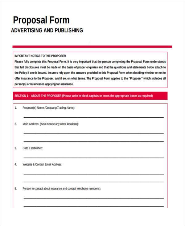 Advertising Proposal Template Get Free Sample - oukasinfo - advertising proposal template