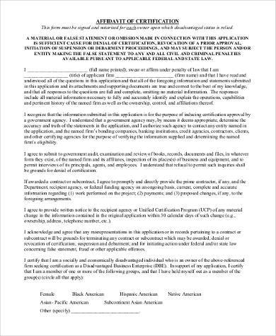 Sample Affidavit Forms in PDF - 23+ Free Documents in PDF - affidavit statement of facts