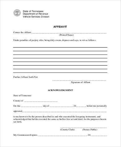 Sample Affidavit Forms in PDF - 23+ Free Documents in PDF - affidavit form in pdf