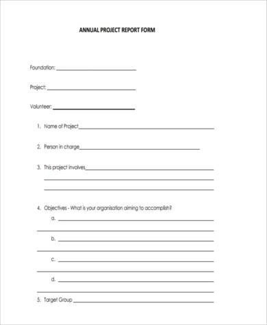 Sample Project Report Forms - 8+ Free Documents in Word, PDF - sample project report
