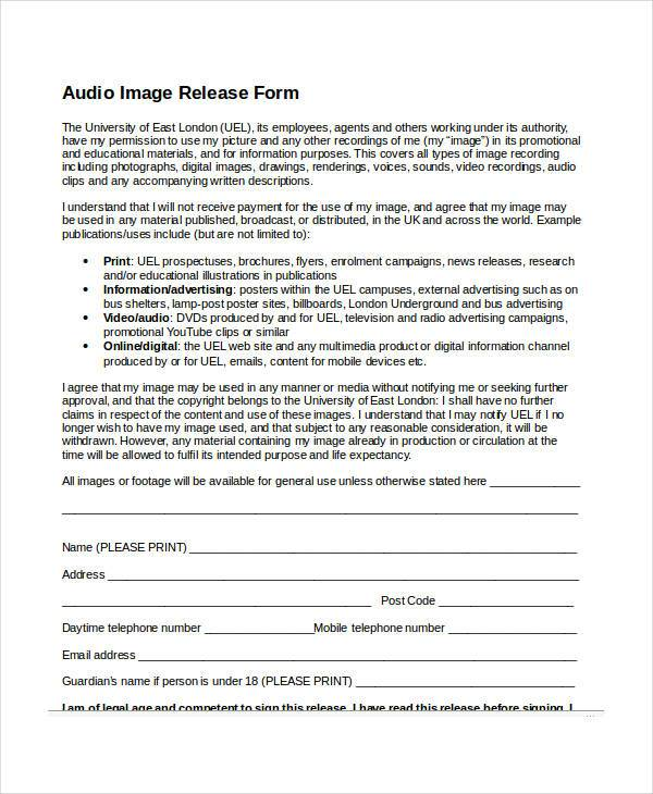 footage release form - Peopledavidjoel