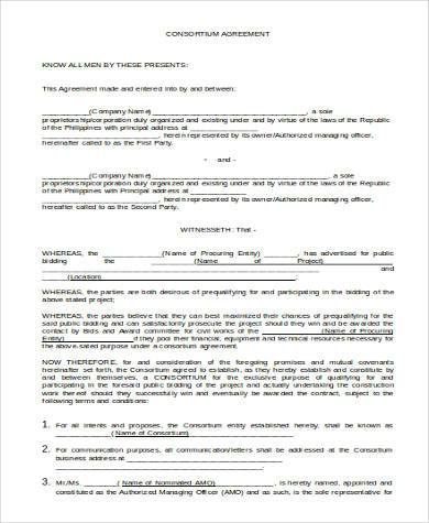 Basic Agreement Form Samples - 27+ Free Documents In Word - agreement form doc