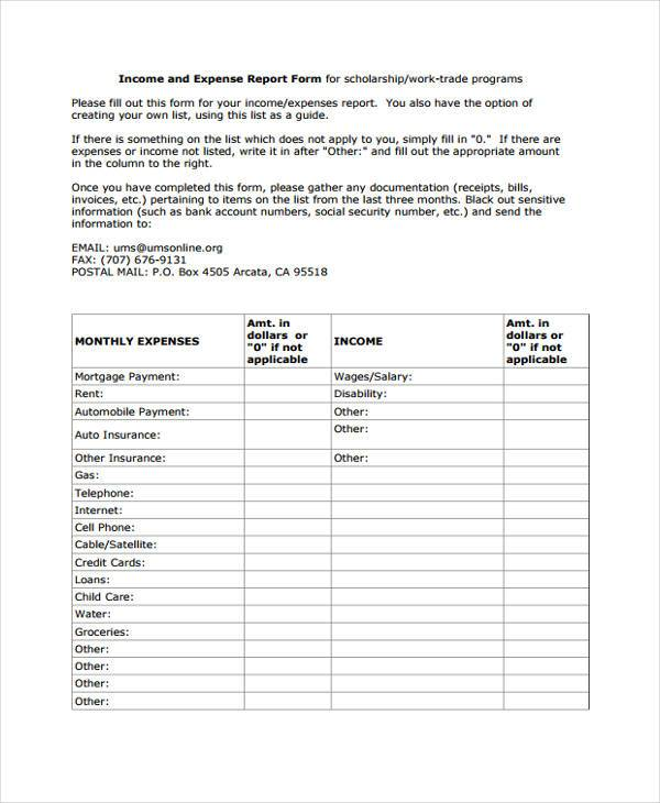 Sample Blank Expense Forms - 8+ Free Documents in Word, PDF