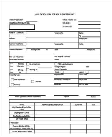 8+ Business Application Form Samples - Free Sample, Example Format - business application form