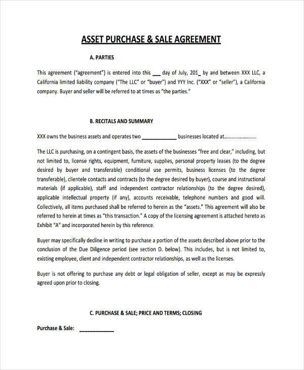 7+ Business Purchase Agreement Form Samples - Free Sample, Example - sample business purchase agreement