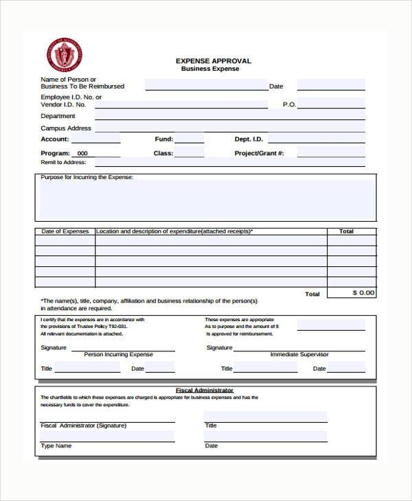 Sample Expense Approval Forms - 10+ Free Documents in Word, PDF