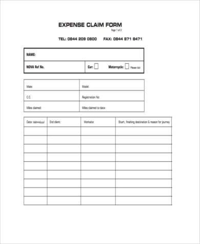 Sample Business Expense Claim Forms - 7+ Free Documents in Word, PDF - claim form in pdf