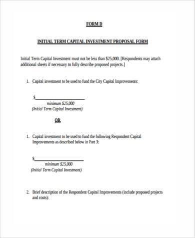 Sample Investment Proposal Forms - 7+ Free Documents in Word, PDF - sample investment proposal