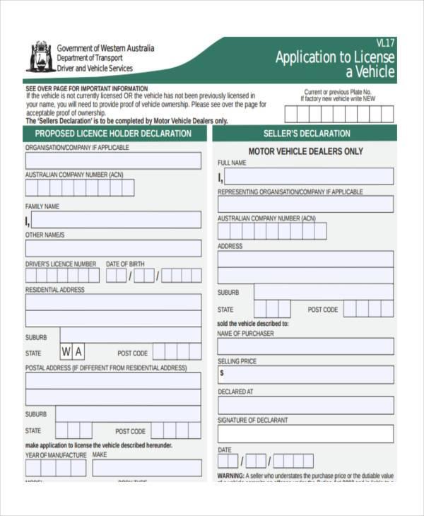 7+ Car Registration Form Samples - Free Sample, Example Format - customer registration form sample