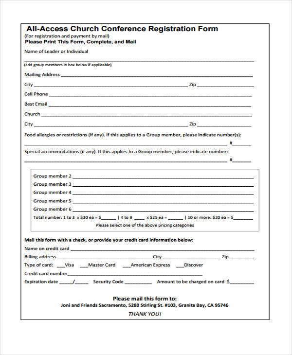 8+ Conference Registration Form Samples - Free Sample, Example