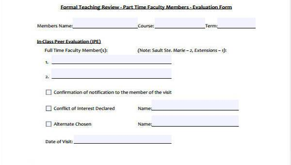7+ Class Evaluation Form Samples - Free Sample, Example Format Download