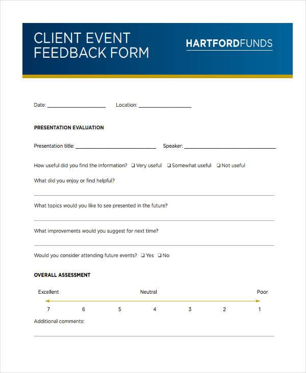 client feedback form hitecauto - event feedback form in pdf