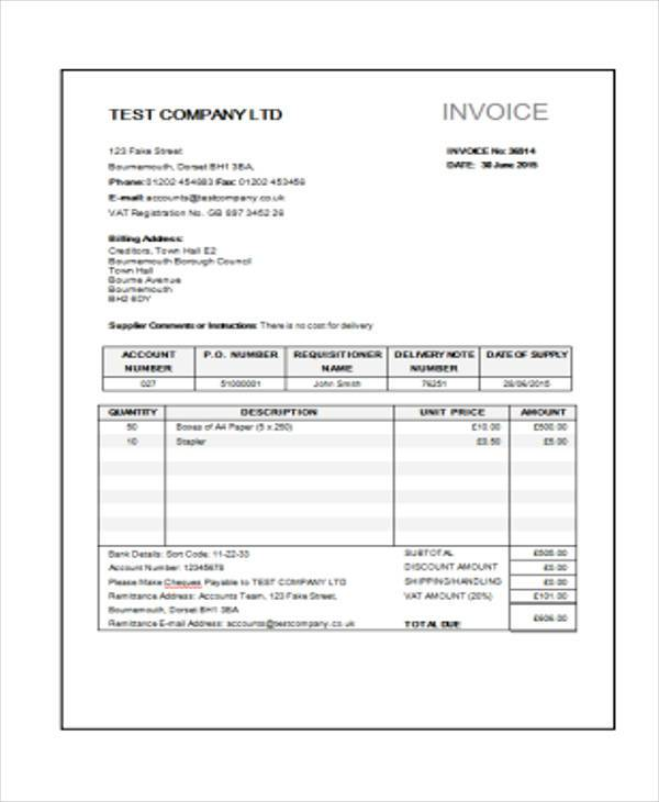 Sample Construction Invoice Forms - 8+ Free Documents in Word, PDF - invoice construction