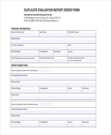 Sample Evaluation Report Forms - 9+ Free Documents in Word, PDF