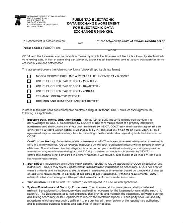 Sample Exchange Agreement Forms - 8+ Free Documents in Word, PDF - contract amendment template