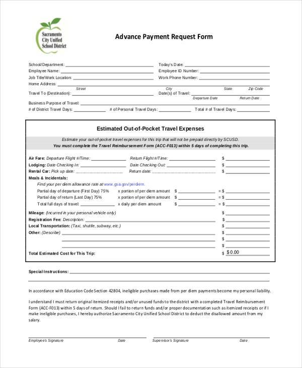 employee advance form - Basilosaur