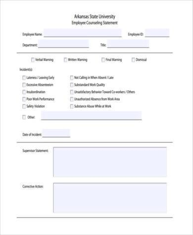 employee counseling form node2004-resume-templatepaasprovider