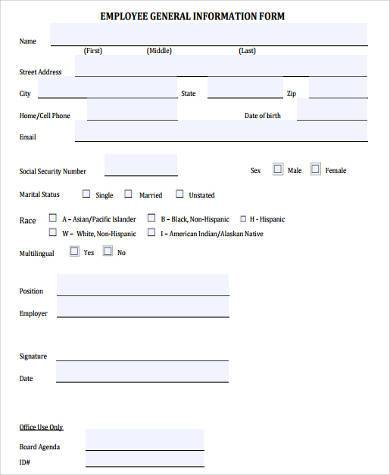 Employee Details Form Sample. employee warning form sample verbal ...