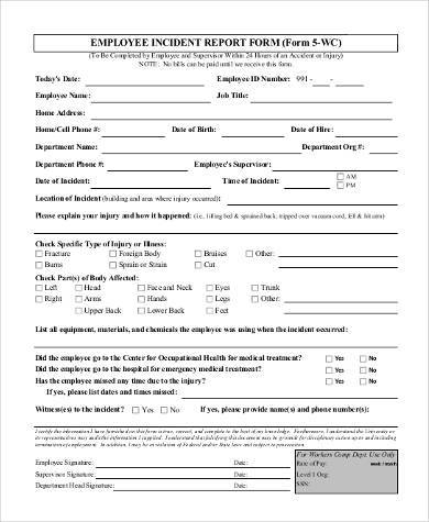 Sample Employee Report Forms - 9+ Free Documents in Word, PDF
