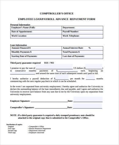 loan repayment form template | template.billybullock.us