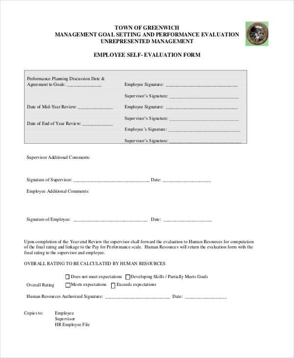 hr evaluation form efficiencyexperts - employee self evaluation forms