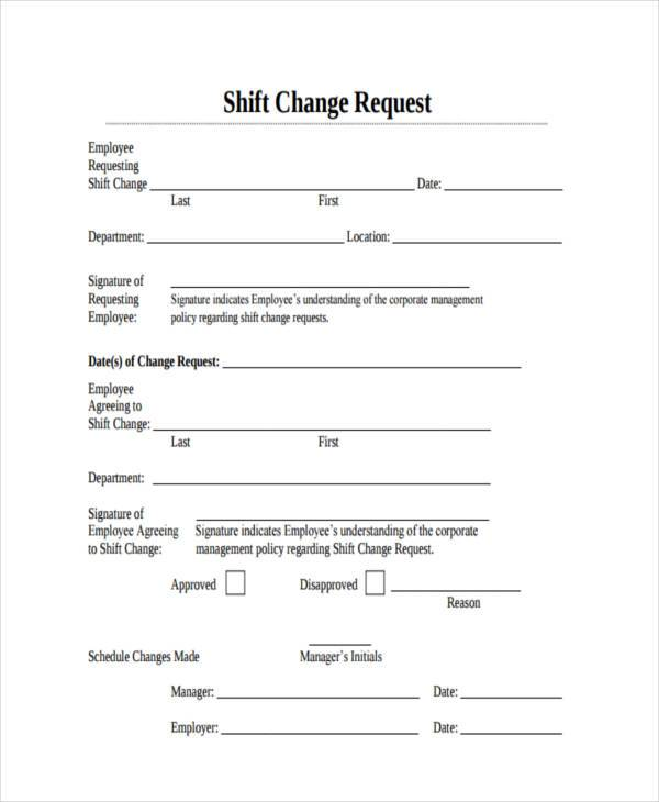 shift change forms - Boatjeremyeaton - employee change form