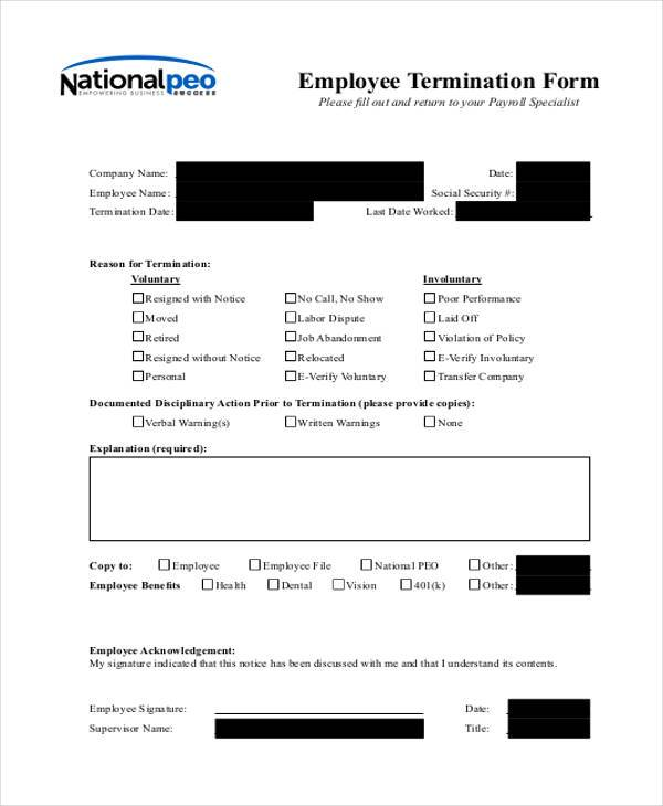 Termination Notice - employee termination guide