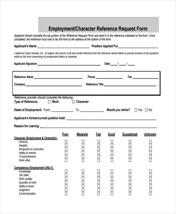 Awesome Job Reference Form Template Elaboration - Professional - employment reference form template