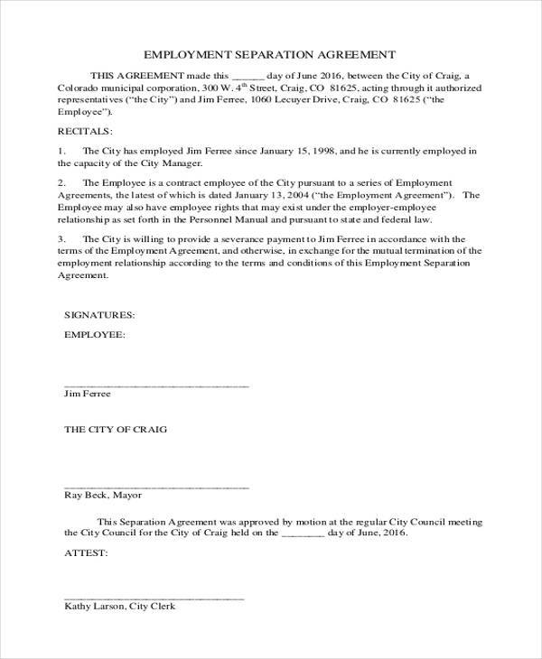 Free Employment Contract Form  NodeCvresumePaasproviderCom