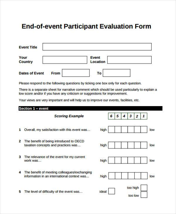 ... Event Feedback Form Samples   8+ Free Sample, Example Format Download    Event Feedback ...  Meeting Feedback Form Template