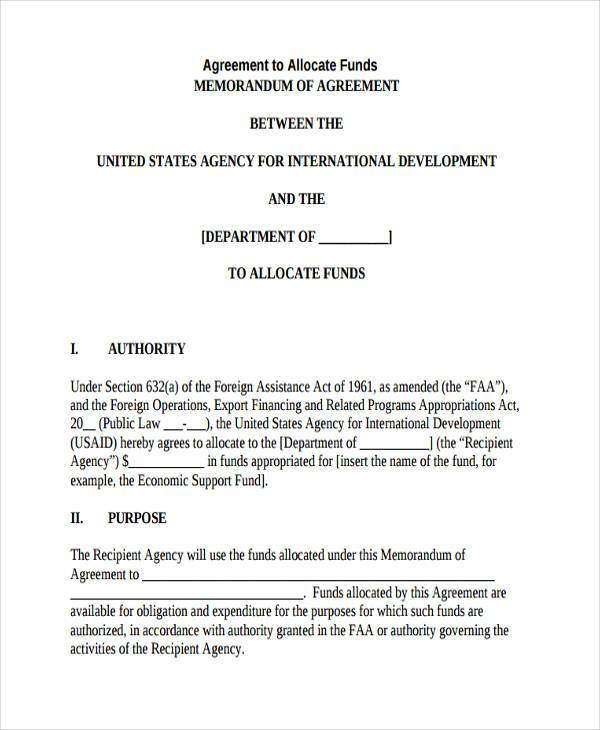 Sample Allocation Agreement Forms - 7+ Free Documents in Word, PDF