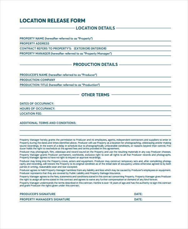 11+ Film Release Form Samples - Free Sample, Example Format Download