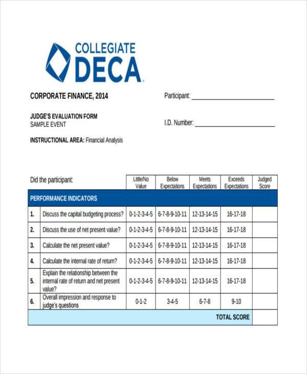 8+ Financial Evaluation Form Samples - Free Sample, Example Format - sample financial analysis