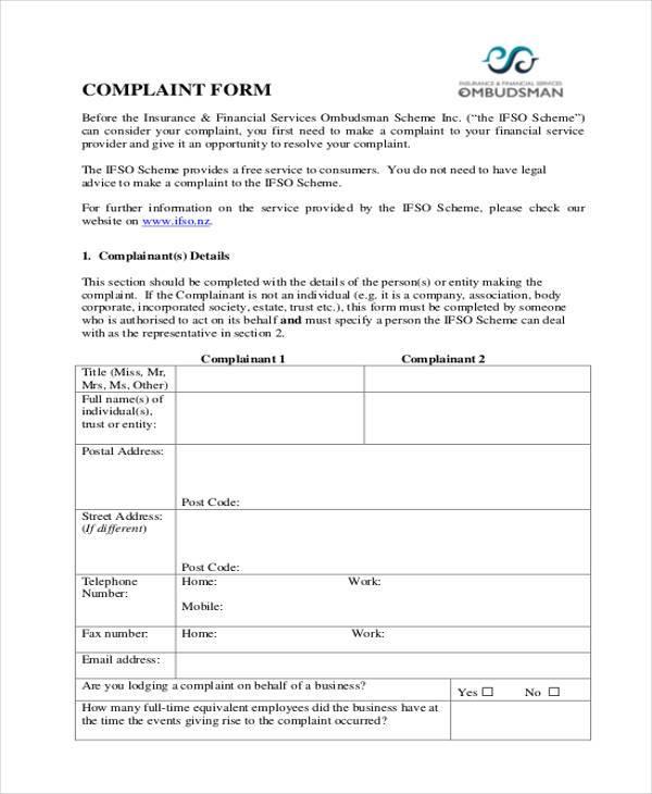 Fresh Financial Ombudsman Complaint form Eeoc Plaint form - financial ombudsman complaint form