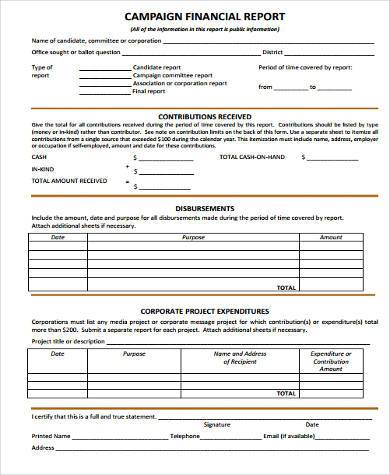Sample Financial Report Forms - 8+ Free Documents in Word, PDF - sample financial report