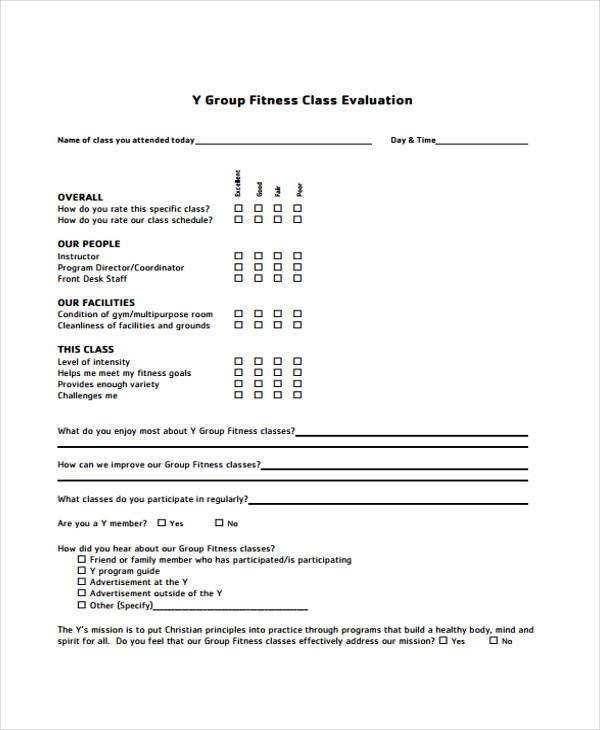 Instructor Evaluation Form Sample Paper Form (Back Of Sheet - class evaluation template