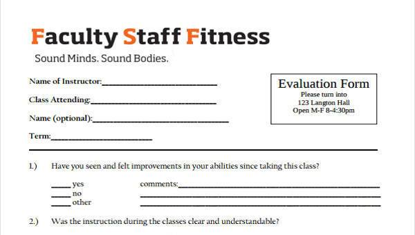 Sample Course Evaluation Form - 8+ Free Documents In Word, PDF