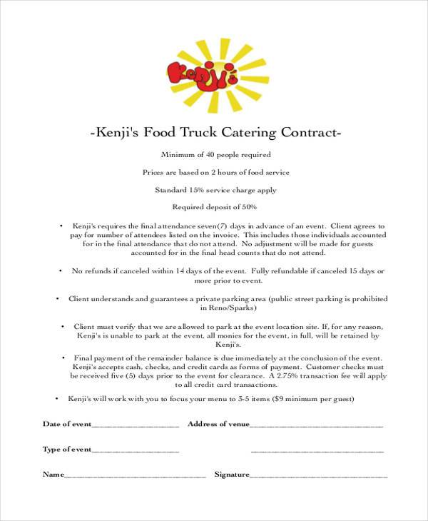 Catering Contract  BesikEightyCo
