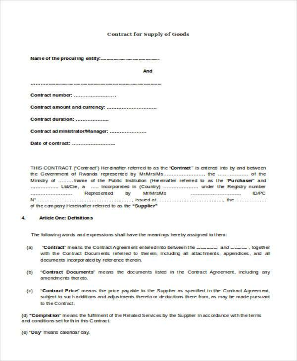 Contract Example Example Of Family Photography Contract Photography - supply contract templates