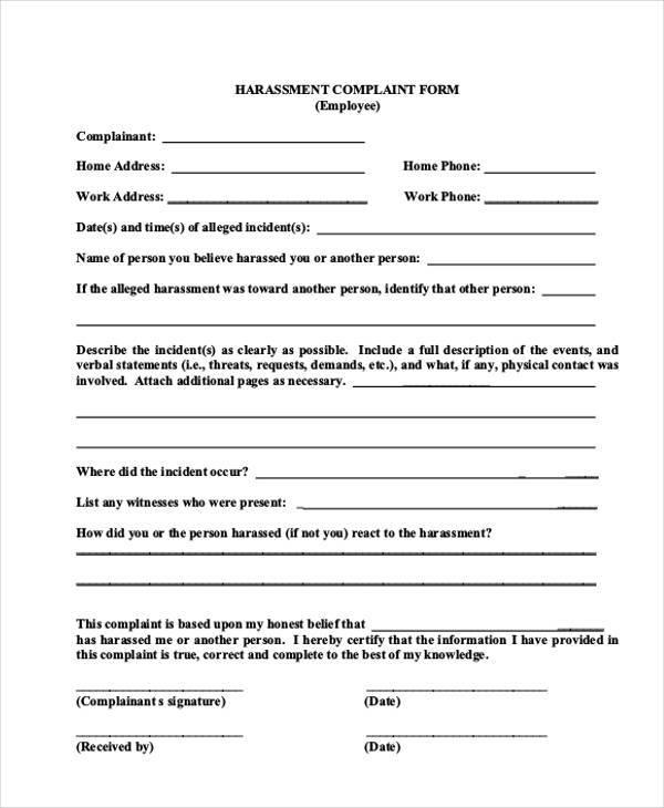 Customer Complaint Form Examples Complaint Form Template Complaint