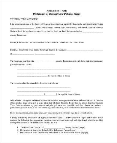 Free Affidavit  NodeCvresumePaasproviderCom